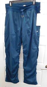 New-Lululemon-sz-8-Teal-Blue-Dance-Studio-Pants-Lined-Pant