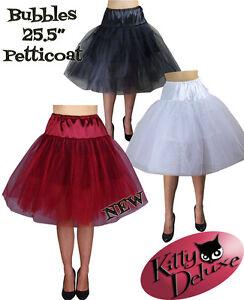 Bubbles-Petticoat-Rockabilly-50-039-s-2-colours-2-sizes-Serious-Boof