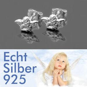 Neu Ohrstecker Engel Echt Silber 925-Silber