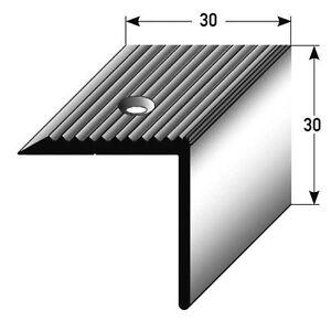 treppenkante treppenkanten winkelprofil 30mm x 30mm alu eloxiert gebohrt. Black Bedroom Furniture Sets. Home Design Ideas
