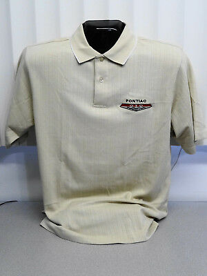 PONTIAC GTO TRI COLOR MOISTURE WICKING POLO SHIRTS GM LICENSED