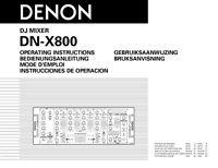 Denon Dn-x800 Dj Mixer Owners Manual