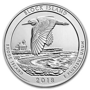 2018-P-5-oz-Silver-ATB-Block-Island-w-Box-amp-COA-SKU-176410