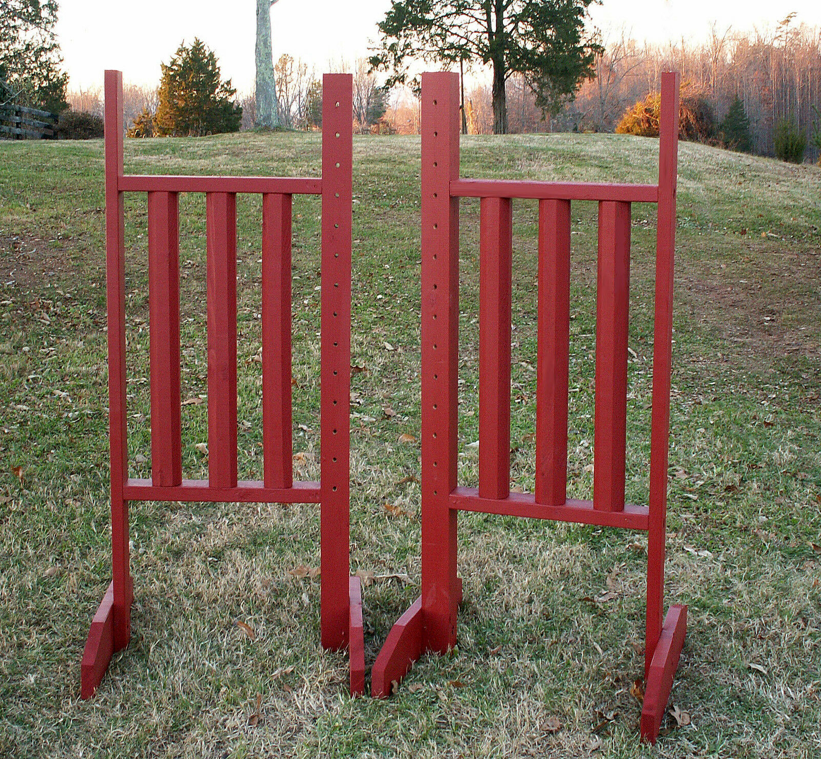 Horse Jumps greenical Rail Wing Standards 6ft Pair  - color Choice  clients first reputation first