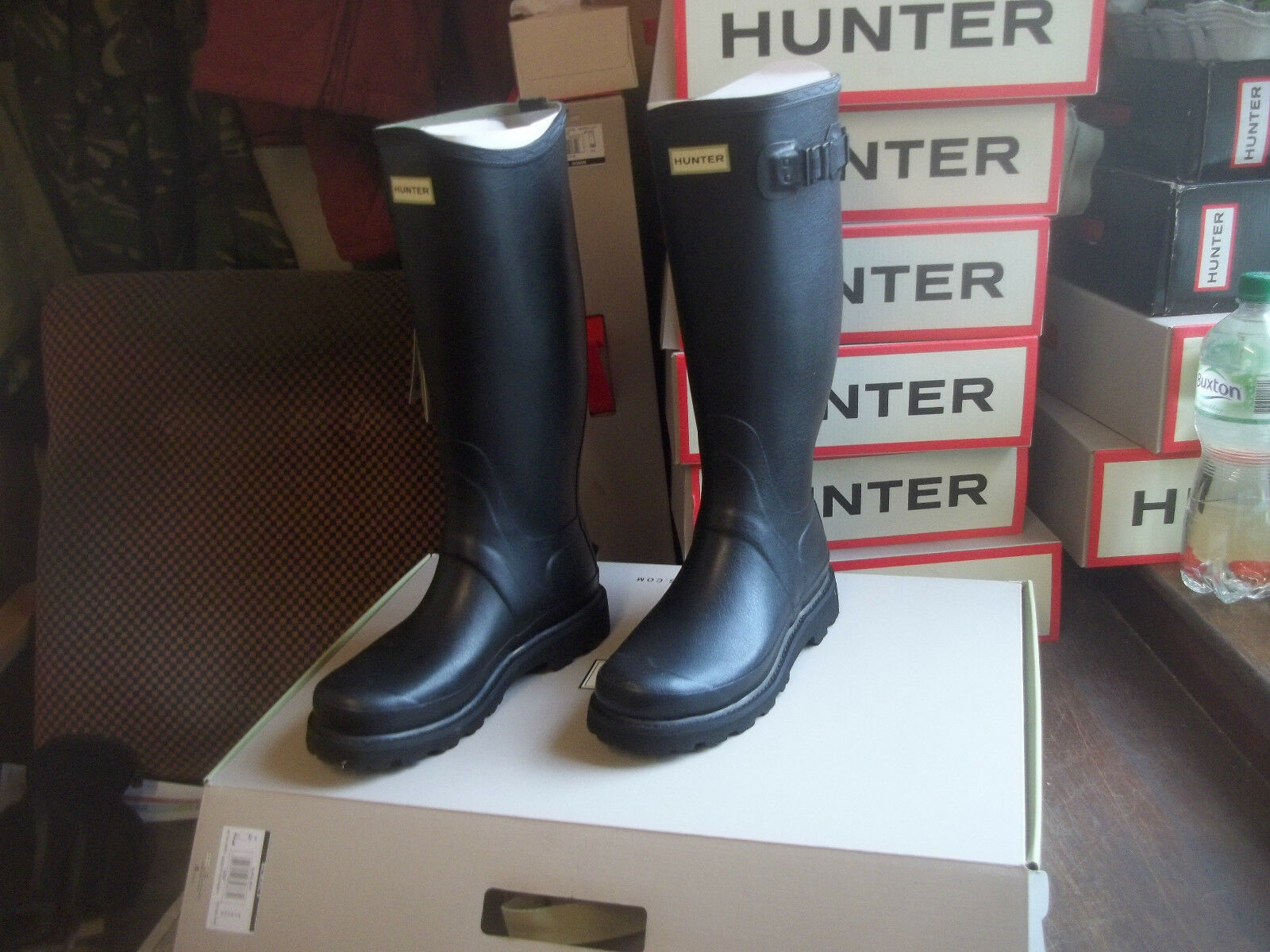 2 HALIFAX IN WELLINGTONS HUNTER BALMORAL MENS schwarz 7 uk