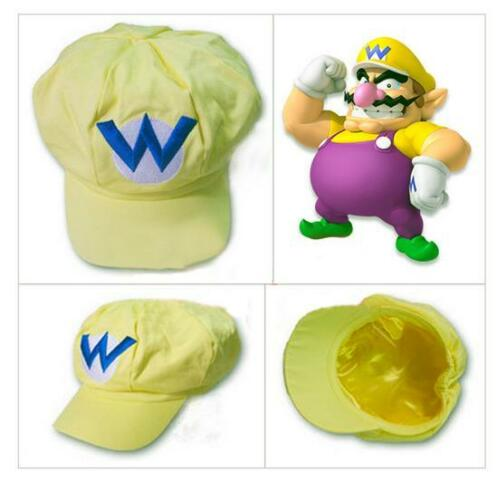 Super Mario Bros Hat Cap Luigi Wario Waluigi Cosplay Game character Cartoon