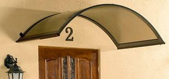 Haustürvordach RONDO braun Vordächer Haustür Alu NEU