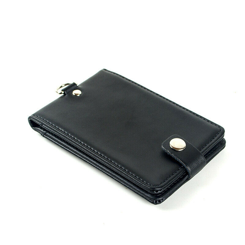 Bureau Travail École Porte-badge en cuir pour carte de crédit Avec Cordon