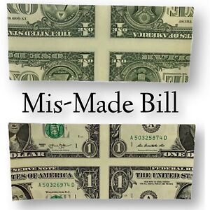MisMade Dollar Bill REAL US Treasury Magic Trick Money Precision SEE VIDEO