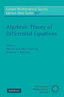 1 of 1 - Algebraic Theory of Differential Equations (London Mathematical Society Lecture
