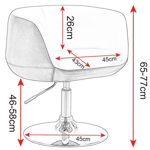 1 x Barsessel Clubsessel Lounge Sessel mit Lehne Chrom Hellgrau BH70hgr