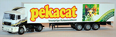Orderly Man F90 Semi-trailer Truck Pekacat Crispy Katzenvollkost 1:87 Albedo 800015 Cars