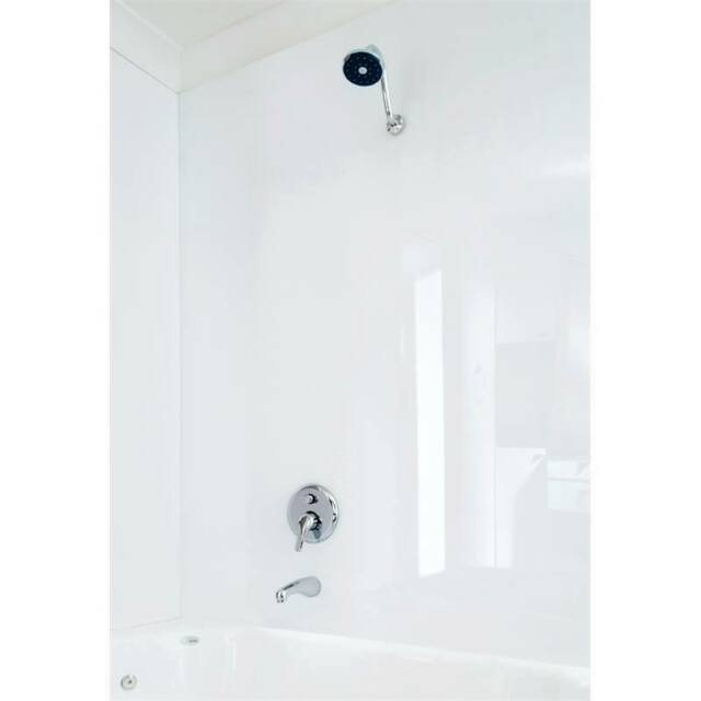 High gloss Bathroom and Shower wet wall panels in white PVC - 8' x 4' x 2mm