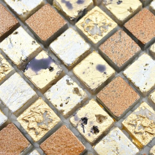 Naturstein Resin Mosaikfliesen Lucky Gold Bronze