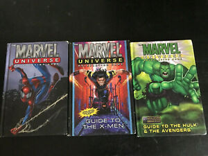 Marvel-Universe-Rpg-Lot-X-Men-Spiderman-Avengers-Wolverine-Hulk-Books-Lot