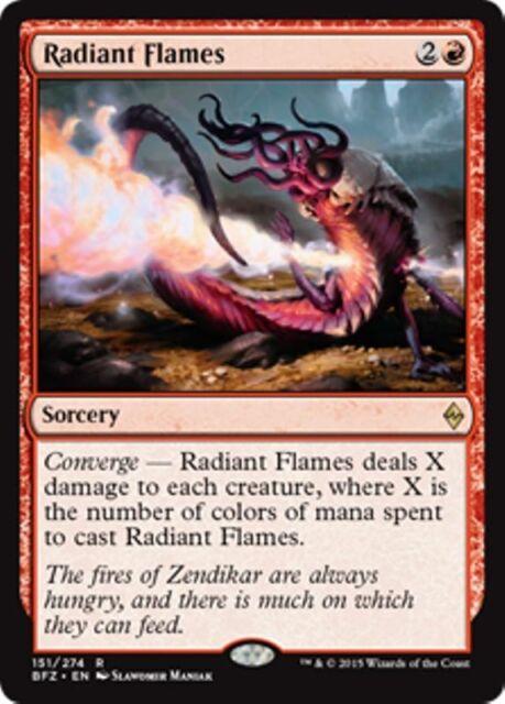 RADIANT FLAMES Battle for Zendikar MTG Sorcery Rare