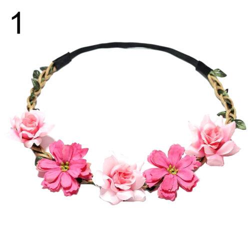 Damen Kinder Blumen Kranz Haarband Blumen Stirnband Haar Girlande Cr Am /_ Ft