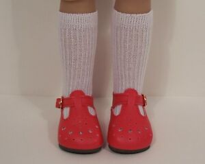 "RED Summer Sandals Doll Shoes For Sonja Hartmann 18/"" Kidz n Cats Debs"