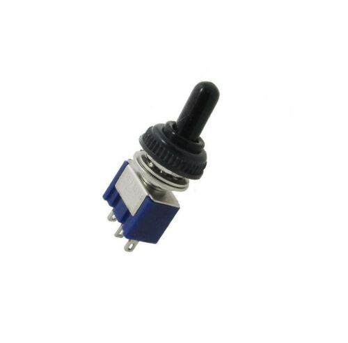 1PCS 125V 6A ON//OFF//ON 3 Position SPDT Toggle Switch w Waterproof Cover Cap