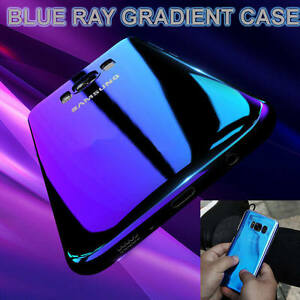 Blu-Ray-Gradient-Colour-Mirror-Hard-Back-Case-Cover-For-Samsung-Galaxy-S7-S8