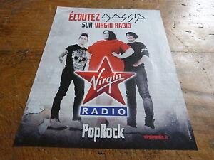 GOSSIP - Publicité de magazine / Advert VIRGIN !!!!!!!!! - France - Thme: Musique - France