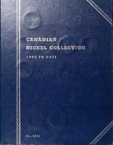 Canada-Five-Cents-30-in-Blue-Folder-Starter-Set-Old-Obsolete-Coins-1923-1960