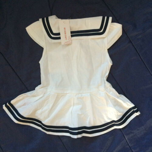 Baby Girls Cute Sailor Romper Dress Play Suit Fancy Dress Marine Navy Blue White
