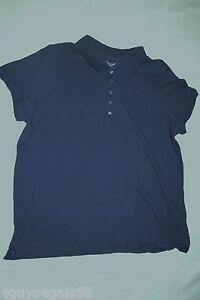 Details about Womens S/S Shirt DARK NAVY BLUE POLO Plus Size 3X 22W-24W 5X 30W-32W