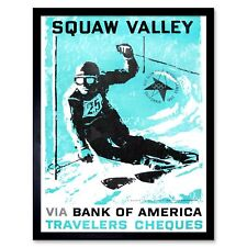 "Travel Winter Snow Skiing Chamonix France Vintage Advert Wall Art Poster 33X47/"""