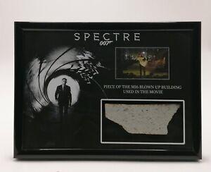SPECTRE BLOWN UP MI6 BUILDING PIECE DISPLAY SCREEN USED BOND COA