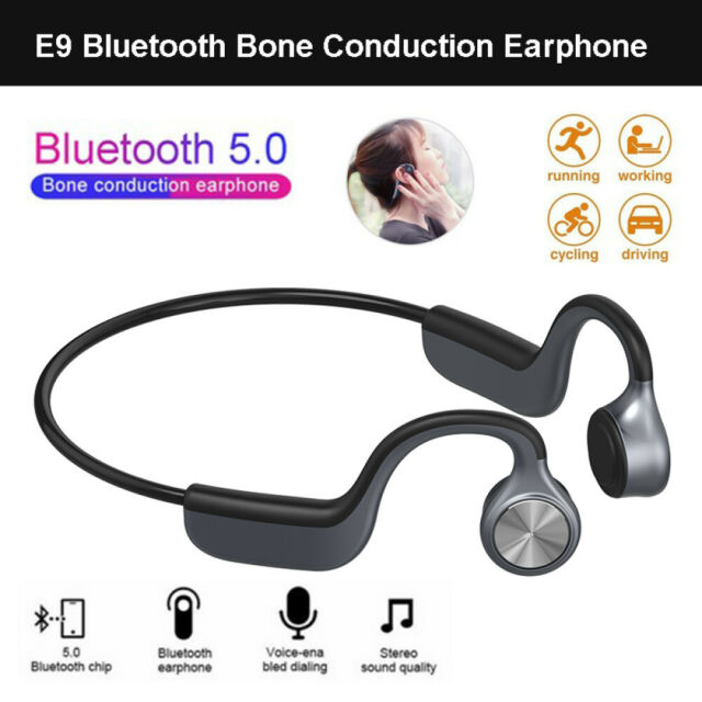E9 Bluetooth Bone Conduction Earphone Handsfree Waterproof Headsets Headphones