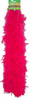 150CM FANCY DRESS FEATHER BOA RED WHITE OR BLACK BURLESQUE SHOWGIRL HEN NIGHT