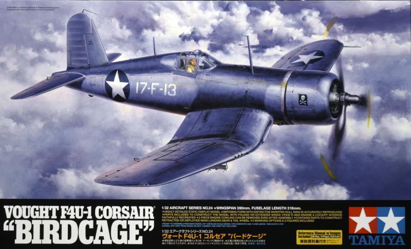 VOUGHT F4U-1 CORSAIR  BIRDCAGE  TAMIYA 1 32 PLASTIC KIT