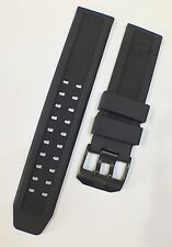 LUMINOX EVO 23mm Watch Strap ALL BLACK RUBBER, Steel Buckle w/LOGO UK SELLER NEW