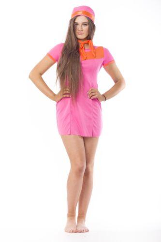 RETRO Stewardess Fancy Dress Party Costume