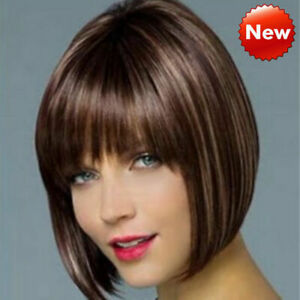 Women Ladies Real Natural Short Straight Hair Wigs BOB Style Cosplay ... ae84f3d218