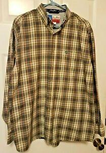 George-Strait-Wrangler-Shirt-Size-Large-Plaid-Cowboy-Cut-Collection