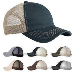 4900c53c7 Details about Sportsman Mens Contrast Stitch Mesh Cap Adjustable Trucker  Hat 3100