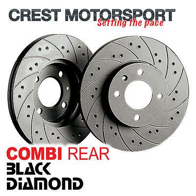 MAZDA RX8 2.6 03- BLACK DIAMOND Combi Rear Brake Discs