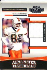 timeless design 5b555 5e781 Details about reggie wayne gu game used jersey patch miami hurricanes canes  college #/400 2003