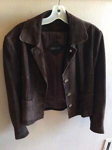 Chocolate Suede Kvinders Brown Størrelse Jacket Daf Small wgzPqa