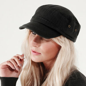 ebb62a4ec5a Image is loading Vintage-Urban-Army-Cap-Beechfield-Casual-Fashion-Military-