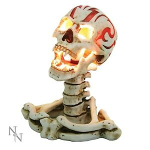 WORKING SKULL LAMP TRIBAL ANARCHY LAMP SKELETON NEW FROM NEMESIS ...