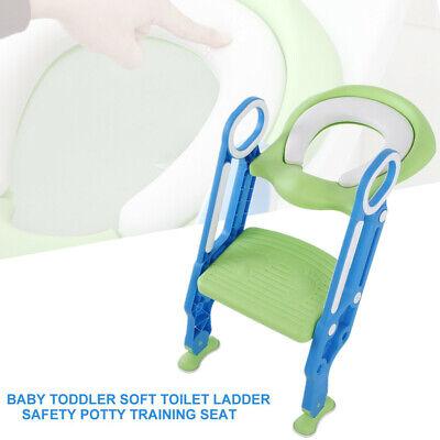 Toilettentrainer+Treppe Kinder WC-Sitz Toilettensitz Lerntöpfchen mit PU Matte