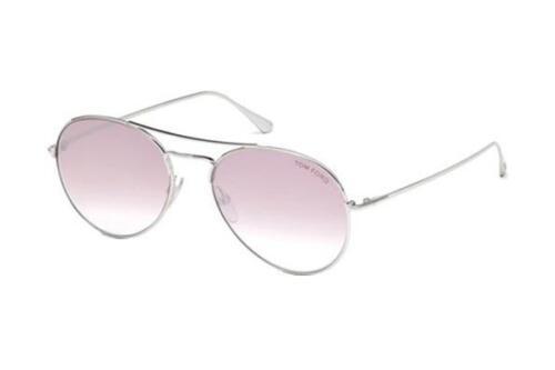 NEW Tom Ford FT0551 18Z 55 Rhodium Shiny Silver Mens Womens Sunglasses Glasses