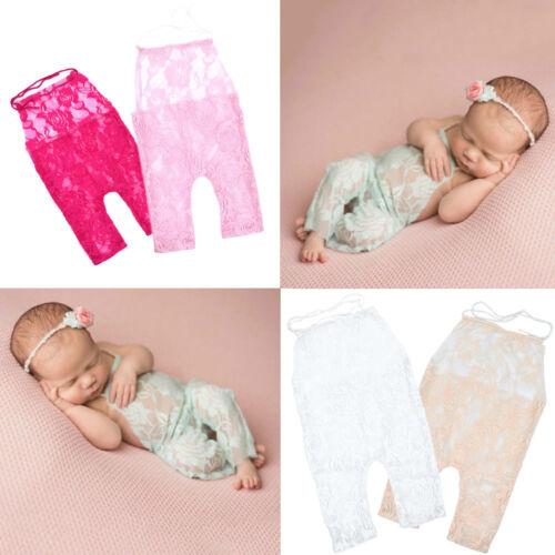 Newborn Baby Girls Lace Romper Bodysuit Jumpsuit Photo Props Photography Costume