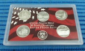 2005-S-United-States-Mint-50-States-Quarters-Silver-Proof-Coin-Set