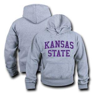 W Republic Kansas State University Wildcats Crewneck Pullover Sweatshirt Sweater Heather Grey