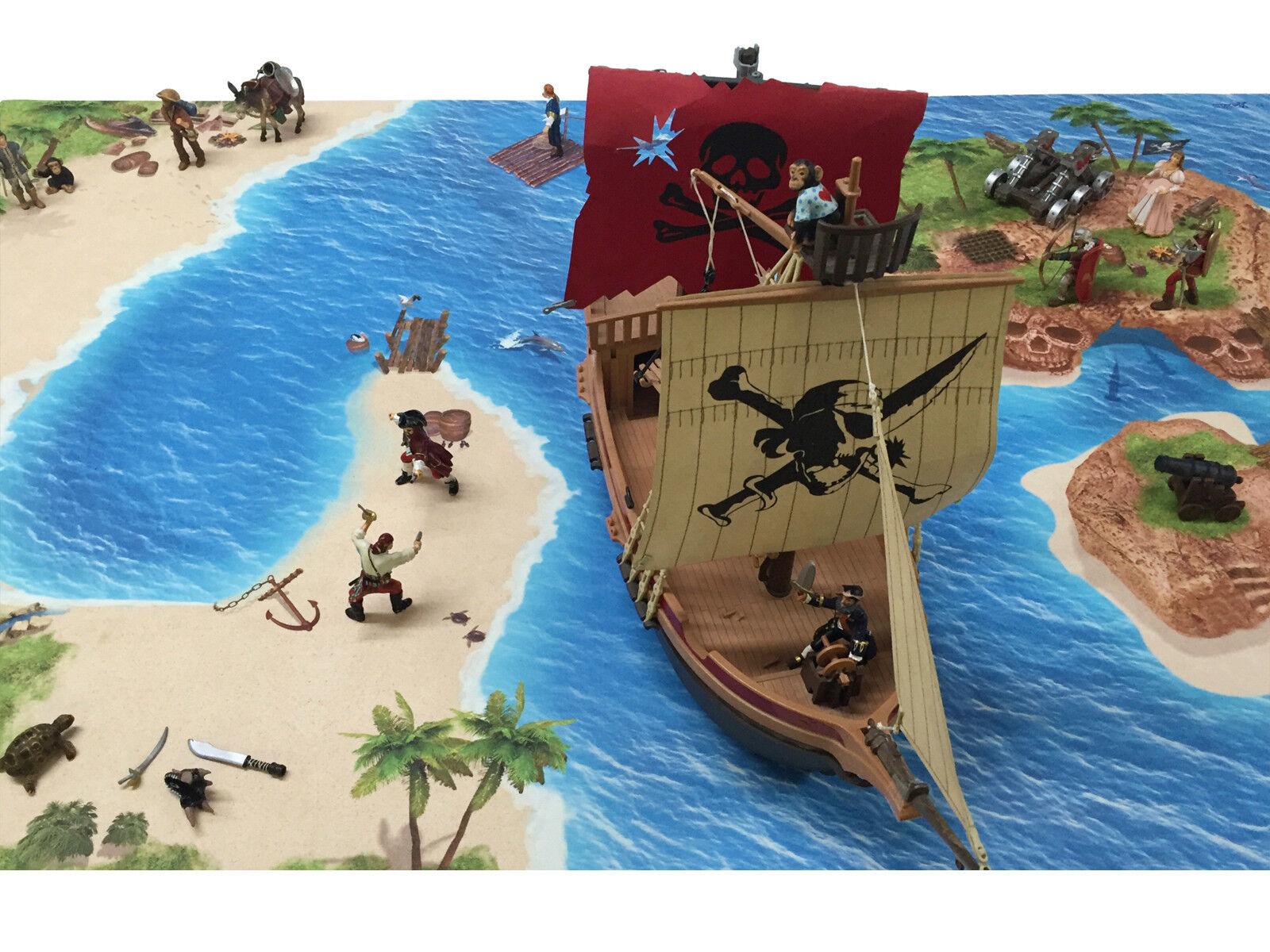 Piraten SM06 Spielmatte     Spielteppich - ca. 150 x 100 cm b45892