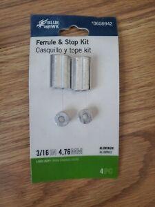 """3//16/"""" Lot of 2 Blue Hawk Ferrule /& Stop Kits #0656942"""